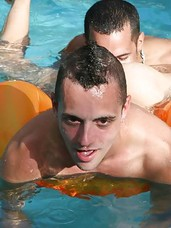 Check out these hot gay papi parties starring sabastian watch him give heiny licks in the pool