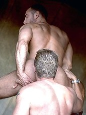 A hairy hunk stuffs his partner full of cock