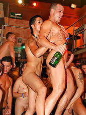 Lots of gay guys sucking and fucking in a wild and crazyclub