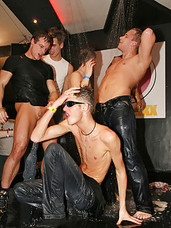 Hot gay fellows penetrating tight butts at a party hardcore