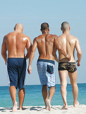 Cjheck out this hot beach party with hot gay men stutting their stuff and looking for some anal action