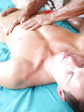 Big dick rub down ends with cum blasts