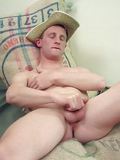 A horny hillbilly struts his stuff for the camera