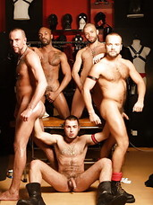 At Boxer Barcelona shop, in the leather section, David Novak, Kid Chocolate, Macanao Torres, Matthieu Paris and Manuel Roko get involved in a diabolical orgy thats guaranteed to satisfy the deepest of hunger and the deepest desire for kink, lust, and ana