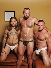 Bareback sex pigs Peter Axel and Greg York know exactly how to bring out the whore in the man they have sex with. But we have a feeling Troy Webb was already well on his way to earning that title as he had no inhibitions whatsoever. The three rugged men a