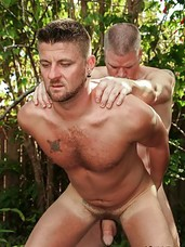 It's sunny South Florida where it's warm and the men are always ready for a deep fuck. In Christian Matthews' and Alex Powers' case, the backyard is calling. Time for more than just a deep fuck. Time for mutual cocksucking and some sweet and sweat