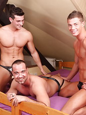 New in town, Paris Neeo invites his neighbors over for a bareback housewarming that's sure to go down in the annals of history! Paris is a major cock whore while Aslan and Rocky are just sex addicts who love to fuck. Paris might show off just how much o