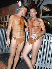 Chk out these super hot papi at fantasy fest in keywest