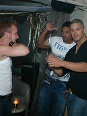 Big dong boys masterbate and cum on eachother in these hot fucking club pics