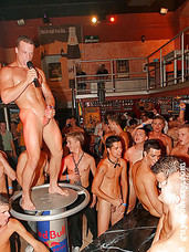 Crazy gay party guys in hardcore circle jerk and fuckfest
