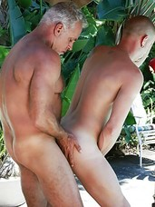It's a beautiful Florida morning and Jeff Grove emerges from his cabana for a private dip in the pool. His plans quickly turn raunchy when he spots his poolboy, Christian Matthews, already cleaning up. Never one to send mixed signals, Jeff strokes his t