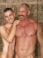 Twink Skip Vincent gets fucked by Spike Morrisons daddy dick in this photo set
