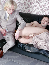 Hot guy diddling his ass eventually fulfilling his dream with gay co-worker
