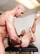Sometimes, if you dont produce as an employee, you must be punished. Trojan Rock sends Wrench, played by Harley Everett, off to massage muscle cub Dolan Wolf. But what winds up as punishment turns out to be pleasurable; not just to Harley but Dolan as we