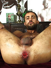 Sylvan Lyk is a sexy Frenchman with an almost innocent look that's surprising in one so into fetish sex. He's wanted mature Spanish Daddy Alfa Jota for a while now and, after opening himself up in a previous scene, using humongous toys and dildos, he�