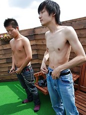 Horny Japanese studs Katumi Tejima and Tomohiro Takagi teasing each others body outdoors before they proceed on a hardcore sex.