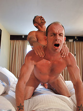 Bill Marlowe is a huge bareback sex fiend. Whether hes dishing it out or receiving, this particular Daddy can keep up with the best of them. But can he keep up with tall, dark, and handsome stud Colin Steele? See for yourself! Mutual cock sucking, hot ri