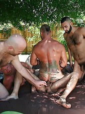 What do you get when you put together half a dozen horny, hairy bareback fuckers on a hot and humid afternoon in Ft. Lauderdale? You got equal loads -- and loads and loads -- of steamy sexy fun. Join us and cum watch these horny guys as they suck and fuck