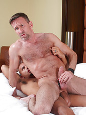 "If you're into big dick, you won't want to miss this! Everyone's favorite Latin Papi, Antonio Biaggi, with his 10x7"" monster cock and handsome, boyish bareback Dad Matt Sizemore. Each goes at the other, doing what they can to suck as much cock dow"
