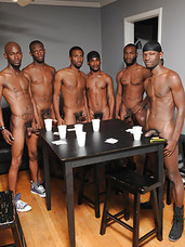 The raw plowing between this gang of very naughty thugs continues. Riding cock bareback and giving it rough is this orgy of black beauties speciality. Soak up every raw minute without licking the screen in lust, if you can.