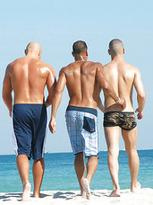 Check out these hot rods smoke some pole on the beach party in these hot fucking gay party pics
