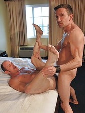 Bill Marlowe is in for the treat of his life. Hes paired of with big-dicked daddy Matt Sizemore, a good-looking, furry top stud who digs deep and loves to fuck his bottoms to the edge of a bareback frenzy and beyond. These two dirty sex pigs enjoy rimmin